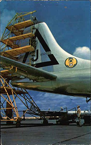 Convair B-36 bomber tail four stories high Fort Worth, Texas Original Vintage Postcard