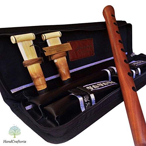 Professional Armenian DUDUK Handmade From ARMENIA, leather case, 2 Pro reeds, Apricot Wood Flute Oboe Balaban Woodwind Instrument - Key A duduk - Playing Instruction by HandCraftoria