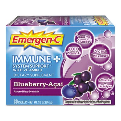 Immune+ Formula, .3oz, Blueberry Acai, 30/Pack, Sold as 1 Package