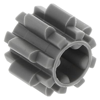 10 x LEGO® Technic, Gear 8 Tooth Type 2 Dark Bluish Gray: Juguetes y juegos