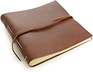 """product image for Rustic Leather Album - The""""Big Idea"""" - 160 Blank Photo Pages - Saddle Brown"""