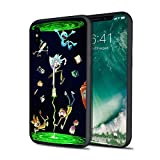 Exclusive Mort and Rick Portal Wubba Lubba Dub Dub Cosmic Adventure Colorful Hard Plastic Protective Power Case for iPhone X XS XS Max XR 6 6s 7 8 Plus (iPhone 7 8)