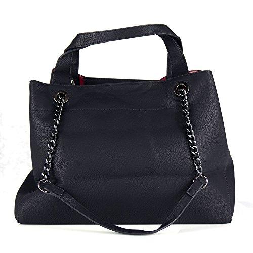 53fb91bc16 ... Shopper A Grande Nera Borsa In Hobo Cuoio Spalla Donna Capiente Pelle  Pu Da Lavoro Bag ...