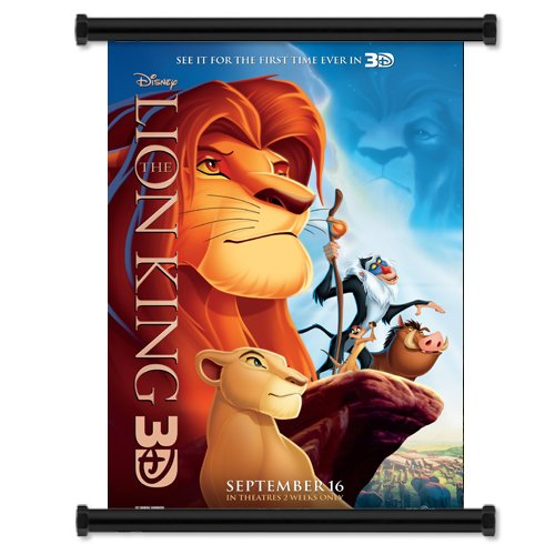 The Lion King 3D Movie Fabric Wall Scrol - Make 3d Poster Shopping Results