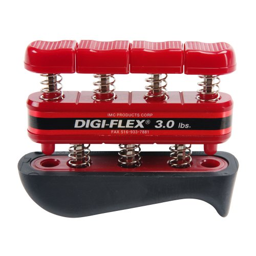 - Cando Digi-Flex Hand and Finger Exercise System Red, 3 lbs Resistance