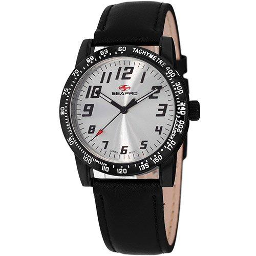 Seapro Women's SP5212 Bold Analog Display Quartz Black Watch