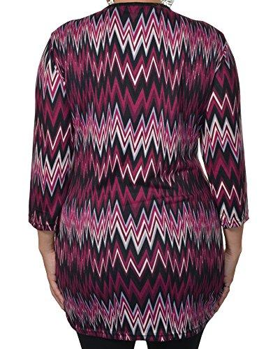 Highness NYC ZigZag Sweater Tunic (Purple, 3X)