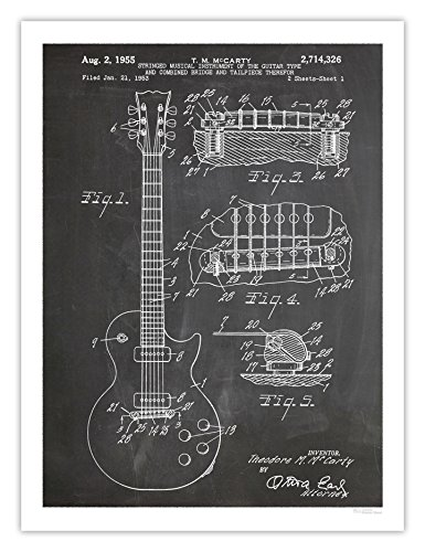 electric guitar drawing - 8
