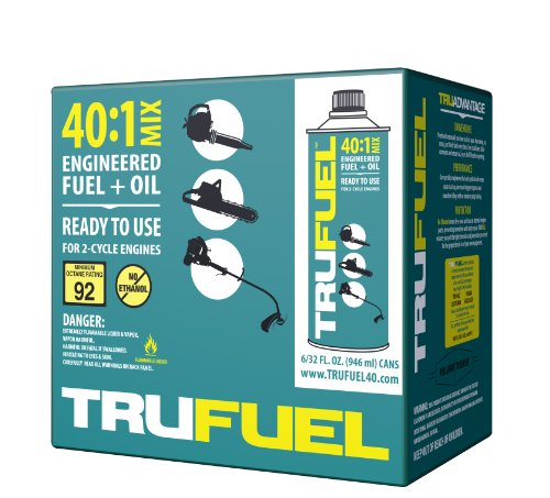 TruFuel 2-Cycle 40:1 Pre-Blended Fuel for Outdoor Power Equipment - 32 oz. (Case of 6) by TruFuel (Image #1)