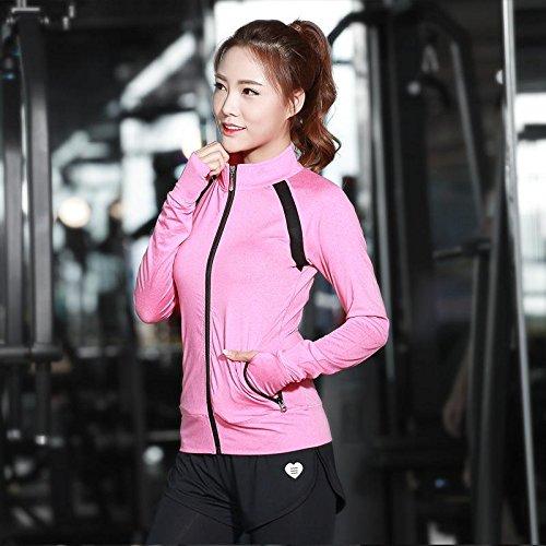 PU&PU Femmes Sports Gym Yoga manches longues Running Outwear Fitness Élastique Manteau