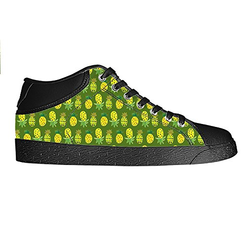 Dalliy Ananas Cartoon Mens Canvas shoes Schuhe Lace-up High-top Sneakers Segeltuchschuhe Leinwand-Schuh-Turnschuhe C