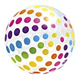 Intex Jumbo Inflatable 42'' Giant Beach Ball - Crystal Clear with Translucent Dots - 59065EP / 2016