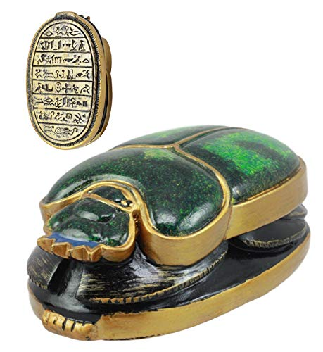 Ebros Ancient Egyptian Scarab Oracle Amulet 4