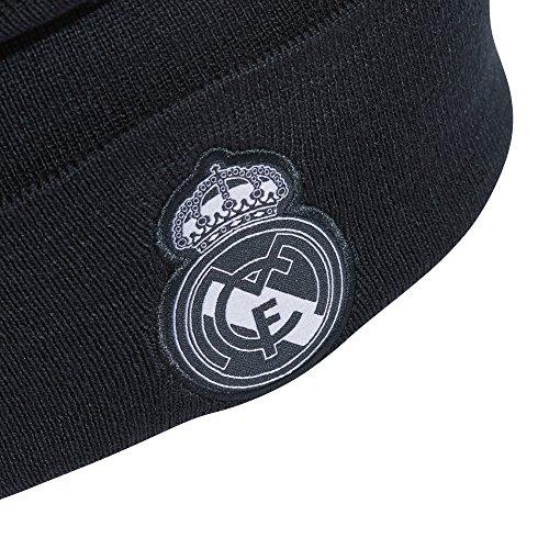 adidas Men Beanie Real Madrid 3 Stripes Football Hat Ronaldo Headwear CY5599 Grey
