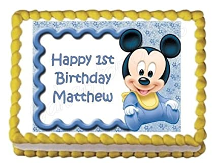 Amazon Baby Mickey Mouse Baby Shower Or Birthday Party Edible