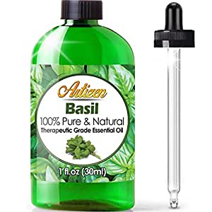 Artizen Basil Essential Oil (100% PURE & NATURAL - UNDILUTED) Therapeutic Grade - Huge 1oz Bottle - Perfect for Aromatherapy, Relaxation, Skin Therapy & More!