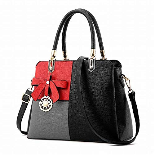 Black A Lady Messenger Moontang colore Powder Borsa Dimensione Tracolla Rubber Per Fight Sweet Donna BSOW1g