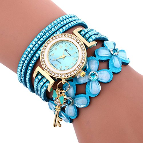 Shop online Clearance Women Watch Daoroka Fashion Chimes Diamond Leather Bracelet Lady Women' Wrist Jewelry Gift