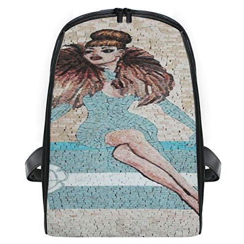 Boys shoolbackpack,Woman Face Mosaic Surreal Painting bag Waterproof Lightweight bookbags for Primary Students leisure picnic travel]()