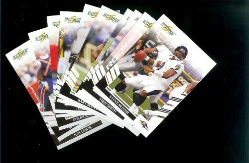 Baltimore Ravens Football Cards - 3 Years of Score Complete Team Sets 2006,2007, 2008 - Includes Stars like Ray Lewis, Rookies & More - Individually Packaged!