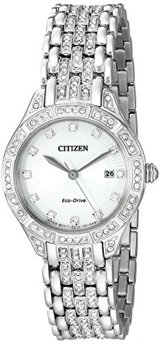 Citizen Women's Eco-Drive Watch with Crystal Accents, EW2320-55A (Drive Eco Citizen 55a)
