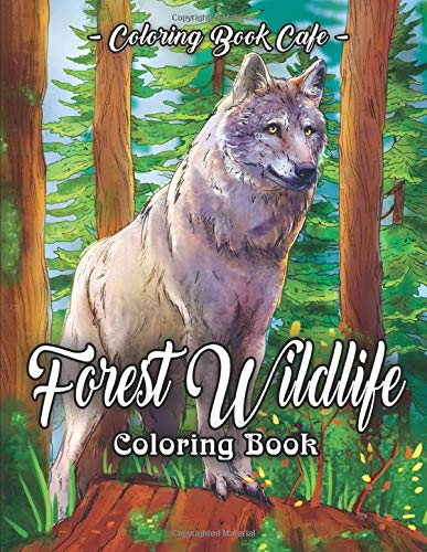 Forest Wildlife Coloring Book  An Adult Coloring Book Featuring Beautiful Forest Animals Birds Plants And Wildlife For Stress Relief And Relaxation