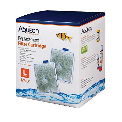 (Aqueon QuietFlow Filter Cartridge, Large, 12-Pack)