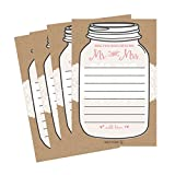 50 4x6 Rustic Wedding Advice & Well Wishes For The Bride and Groom Cards, Reception Wishing Guest Book Alternative, Bridal Shower Games Note Card Marriage Advice Bride To Be, Best Wishes For Mr & Mrs
