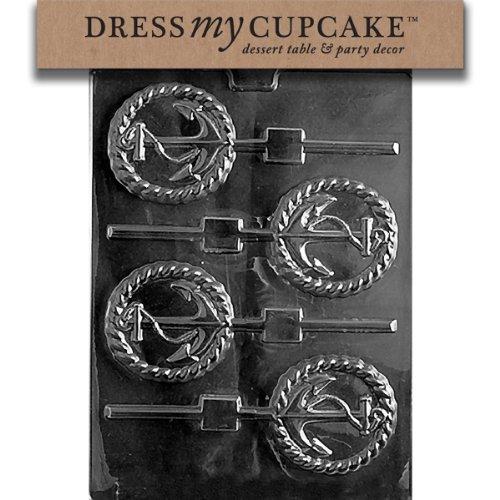 Dress My Cupcake Chocolate Candy Mold, Anchor Lollipop, Nautical