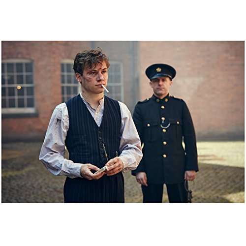 - Peaky Blinders Finn Cole as Michael with badly beaten face lighting cigarette nearofficer 8 x 10 Inch Photo