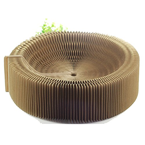 BobbyPet Cat Scratcher Lounge Bed - Collapsible Round Shape for Big cat by BobbyPet