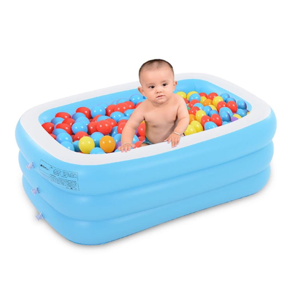 Gbell Large Family Inflatable Bath Tub Pool Game Kids Swim Pool Toys for Adults,Boys&Girls 120×85 ×35CM (A 130×90× 48cm)