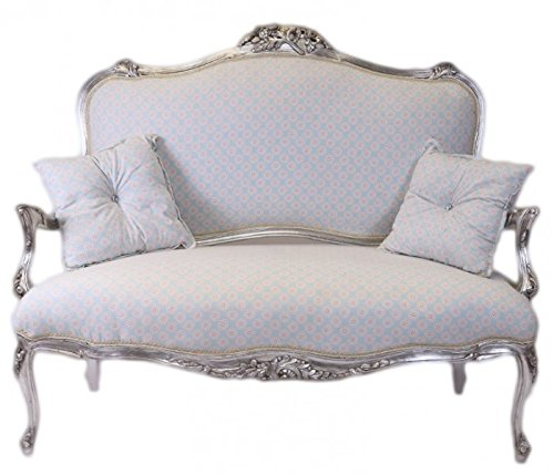 Casa padrino barock weiss blau muster silber for Wohnzimmer italienischer stil