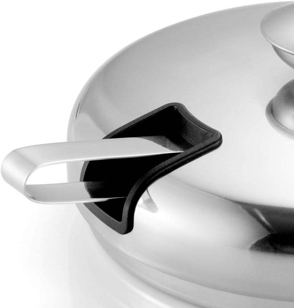 Zerone Seau /à glace /à double paroi seaux /à glace avec pinces /à glace en acier inoxydable 2L