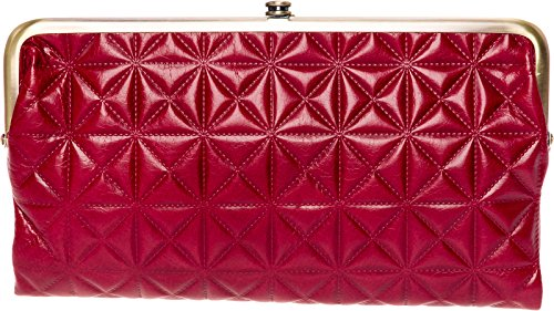 Hobo Womens Leather Vintage Lauren Quilted Embossed Clutch Purse (Cardinal) by HOBO
