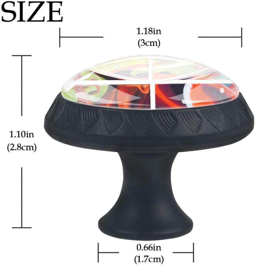 Lot de 4 boutons de placard en forme de t/ête de mort en forme de cercle 35 mm