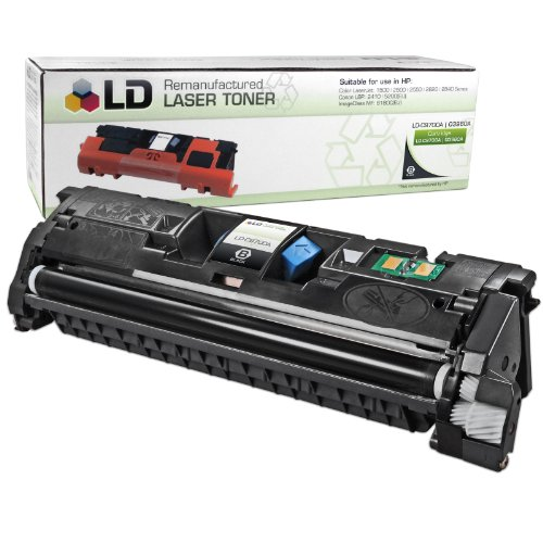 LD Remanufactured Toner Cartridge Replacement for HP 121A C9700A (Black)
