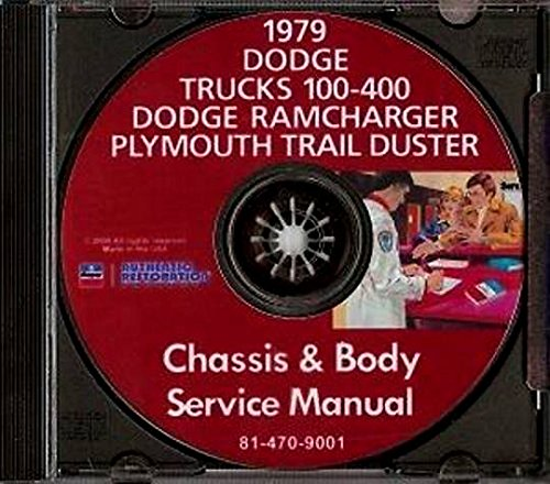 - THE ABSOLUTE BEST 1979 DODGE TRUCK PICKUP REPAIR SHOP & SERVICE MANUAL & BODY SHOP CD INCLUDES: Power Wagon, Li'l Red Express, Warlock II, Sport Utility, 100-400 Series Conventional, Ramcharger, Trail Duster, Crew & Club Cab