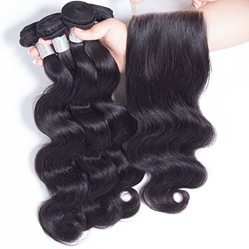 ZILING-Brazilian-virgin-hair-body-wave-with-lace-closure-human-hair-bundles-with-closure-extensions-hair