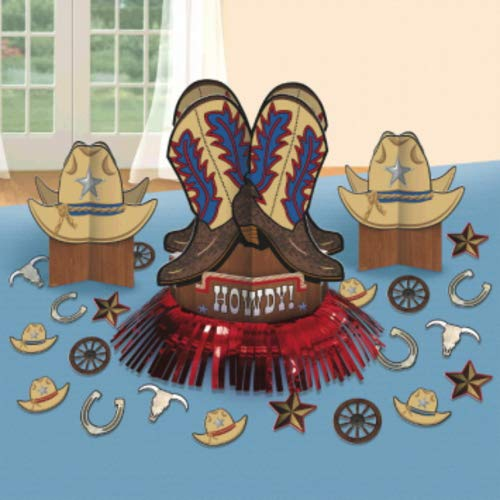 Western Table Decorations - Amscan 280095 Western Table Decorating Kit,