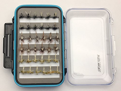 Wild Water Dry Fly Assortment, 72 Flies with Large Fly ()