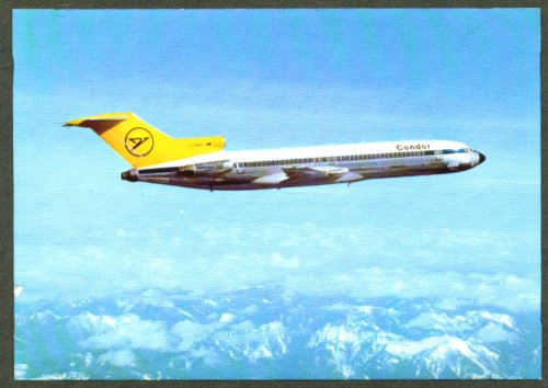 Condor Flugdienst Airlines Boeing 727-230 postcard