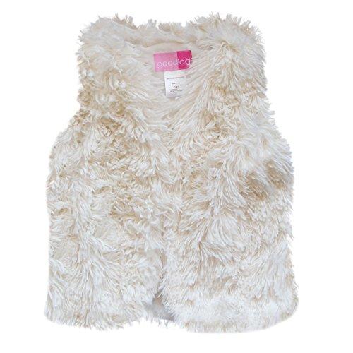 Good Lad 2/6X Faux Fur Vest (3T, White)
