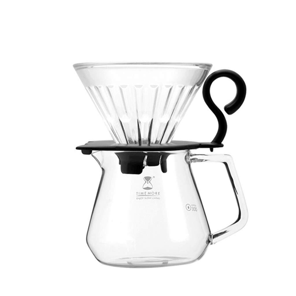 Acquisto Chunxia Caffettiera per il lavaggio a mano Set Tazza per il filtro del caffè in vetro resistente al calore a goccia da 360 ml Prezzi offerta