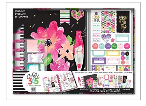 Blooms Dated Weekly (Create 365 The Happy Planner 12 Month Student Edition Box Kit PLNY-12, Happy Blooms, Dated August 2017 - July 2018)