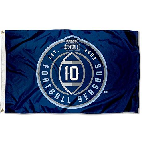 nners Co. Old Dominion Monarchs 10 Football Seasons Flag (Dominion Football)