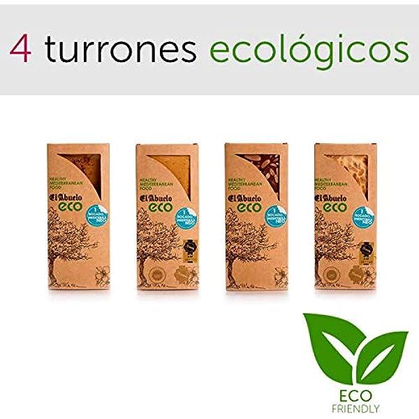 Lote de 4 Turrones Ecológicos y artesanos El Abuelo. Certificado ...