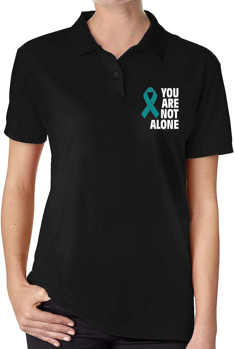 KHY8FN/&J Sexual Assault Awareness Women Short-Sleeve Polo Shirt Women Sport Shirt