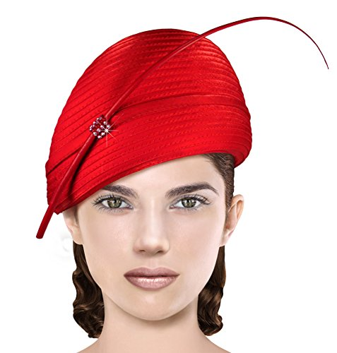 Red Hat Society by Luke Song Structured Beret Cloche Hat ARQ29
