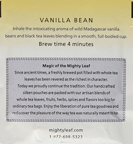 Mighty Leaf Vanilla Bean Tea, 100 Tea Pouches by Mighty Leaf Tea (Image #2)
